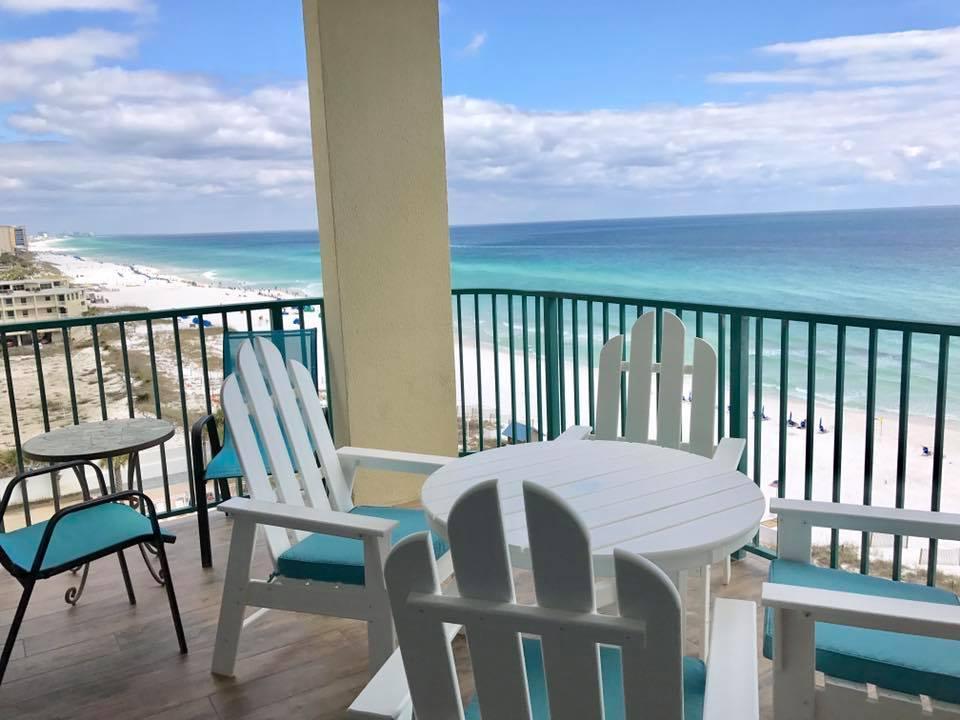 balcony oceanfront beach sandnsol destin jade east condo