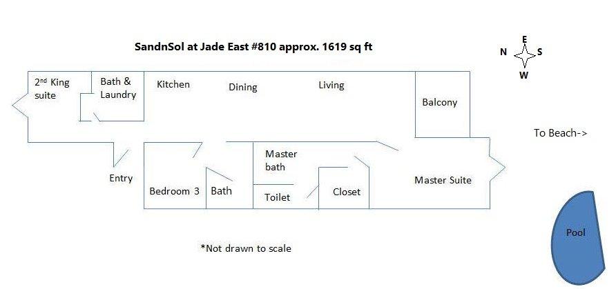 floor plan oceanfront sandnsol destin condo jade east
