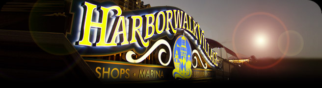 harborwalk village sign
